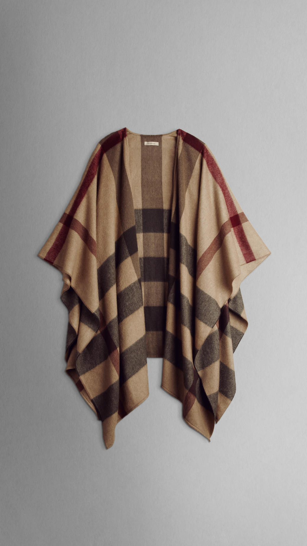 Lyst Burberry Check Cashmere Cape In Natural