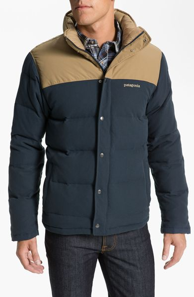 Patagonia Bivy Quilted Down Jacket In Blue For Men