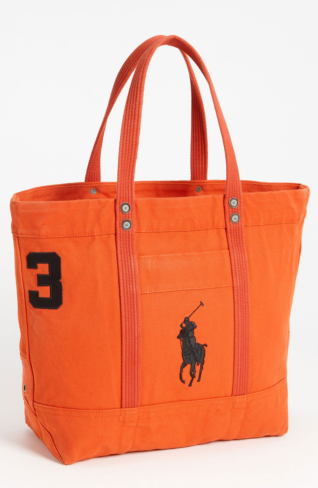 Ralph Lauren Red Blue Canvas Big Pony Handbags