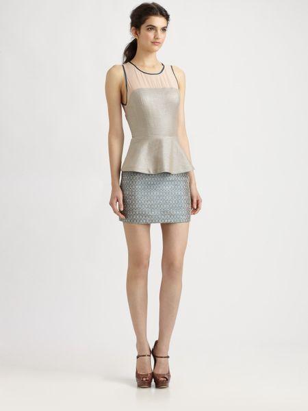 Sachin & Babi Sharpe Skirt in Gray (sapphire)
