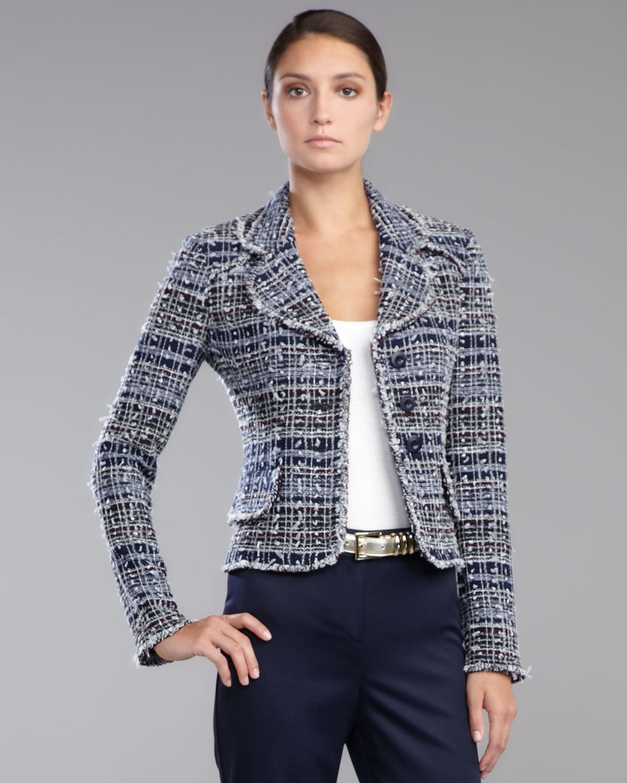Womens tweed jacket blazer