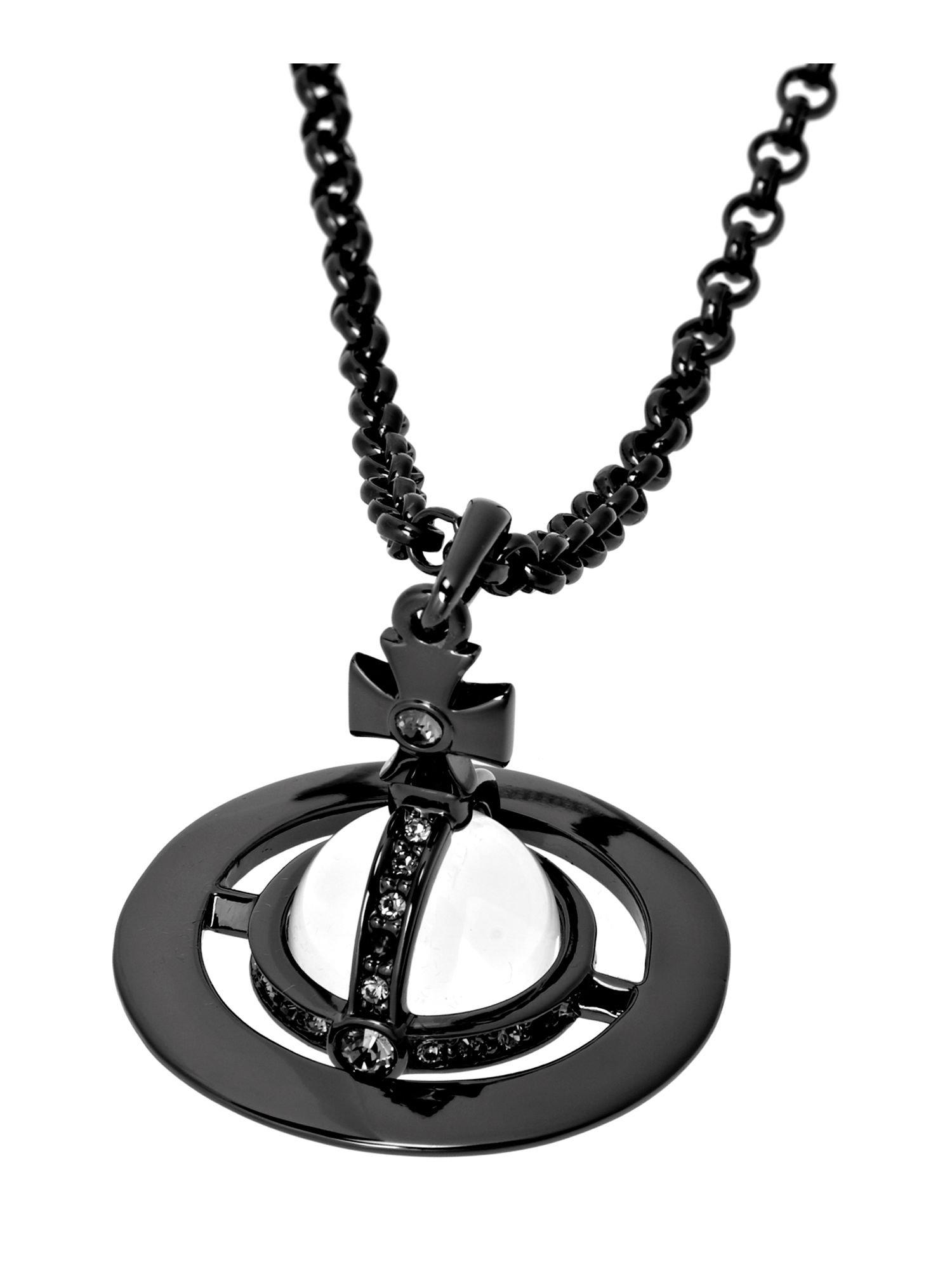Lyst vivienne westwood orb pendant in gray for men gallery aloadofball Gallery