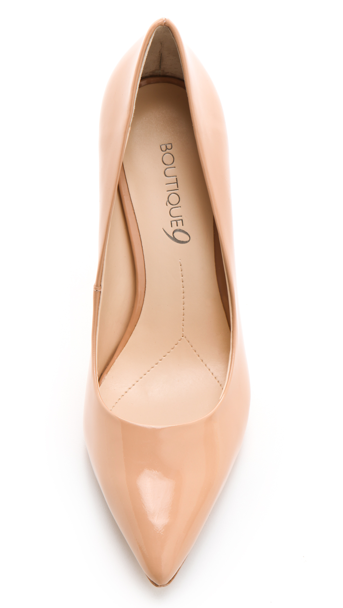 1db05fd603aad Lyst - Boutique 9 Justine Patent Leather Pumps in Natural