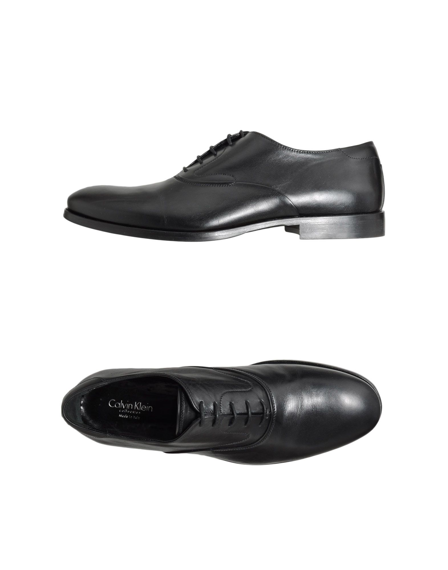 calvin klein laceup shoes in black for lyst