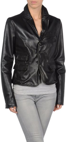Dsquared2 Leather Outerwear in Black