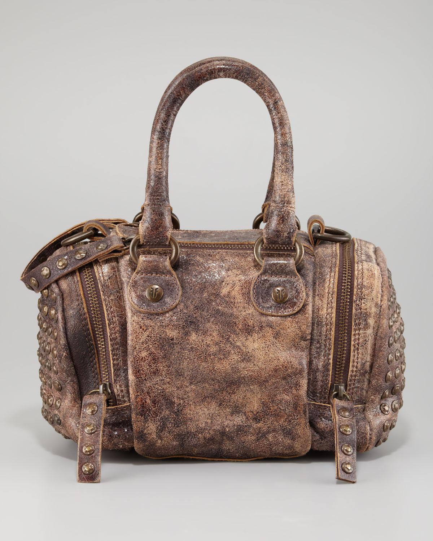 Lyst Frye Brooke Small Satchel Crossbody Bag In Brown