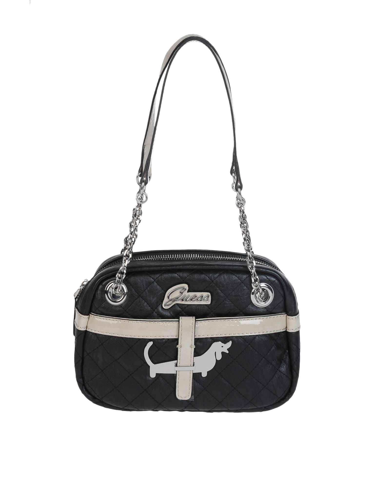 Guess Small Leather Bag in Black (noir)   Lyst