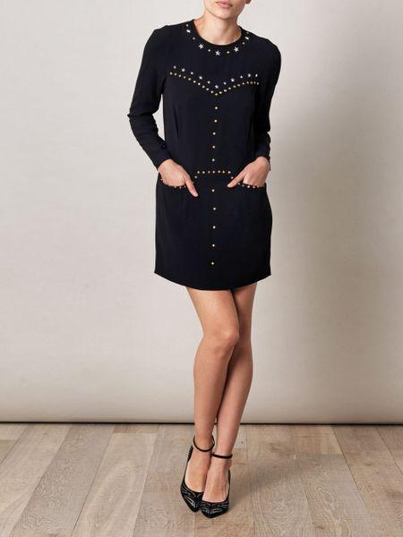 Isabel Marant Kristia Star Studded Dress In Black Lyst