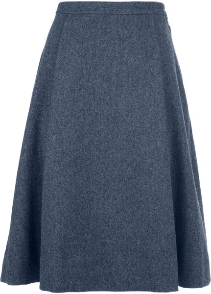 marc by marc pleated a line skirt in gray grey lyst