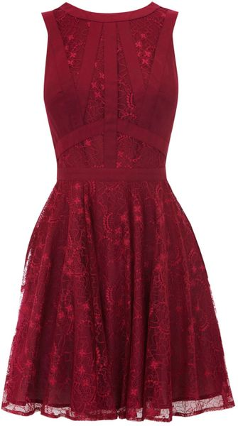 Oasis Gothic Lace Dress in Purple