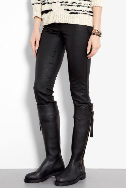 Penelope Chilvers Black Long Tassel Knee High Boots In