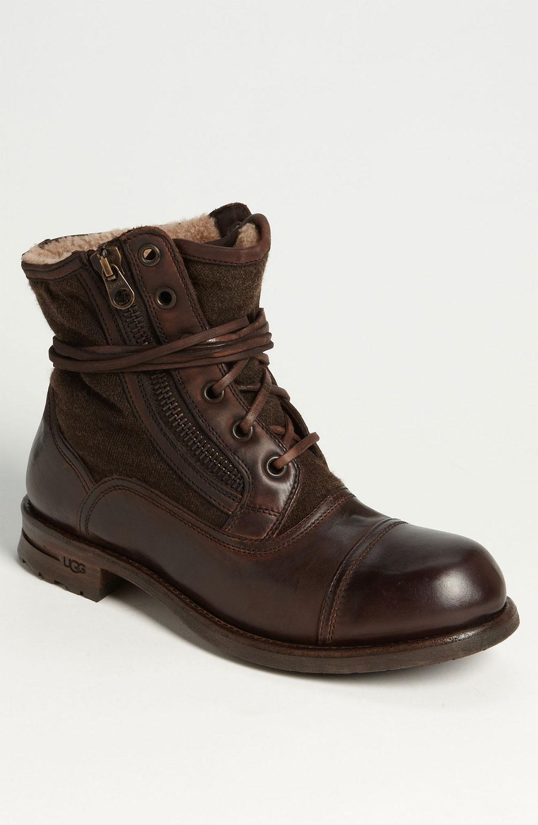 ugg tonio cap toe boot in brown for men dark brown lyst