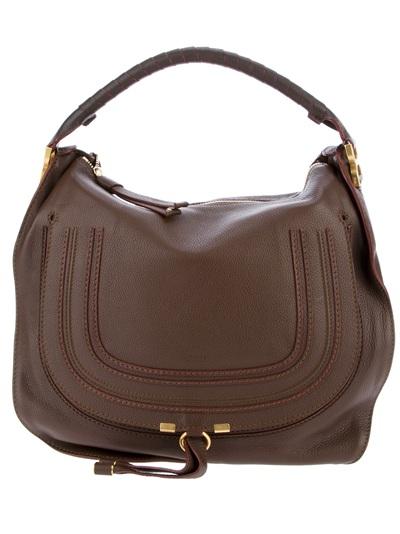 buy chloe bags online - Chlo�� Marcie Hobo Bag in Brown | Lyst