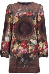 Dolce & Gabbana Floral Printed Silk Dress