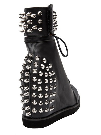 Jeffrey Campbell Medusa Spike Sneaker in Black