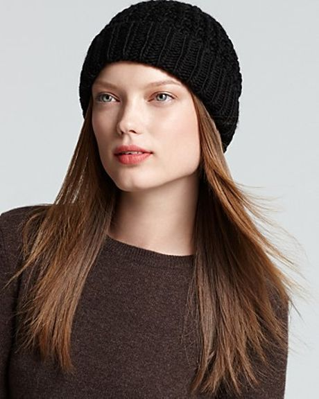 Michael Kors Michael Cuffed Skull Hat in Black - Lyst