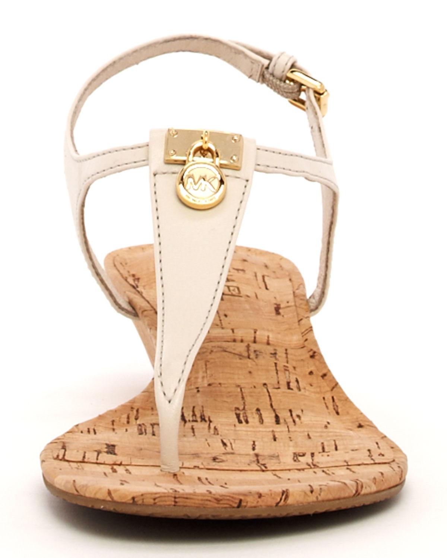 84c0bdd72d4d Lyst - Michael Kors Hamilton Cork Thong Sandal in Natural