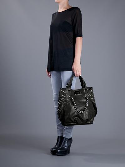 Balmain Studded Tote Bag in Black