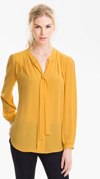 Yellow Tie Neck Blouse 66