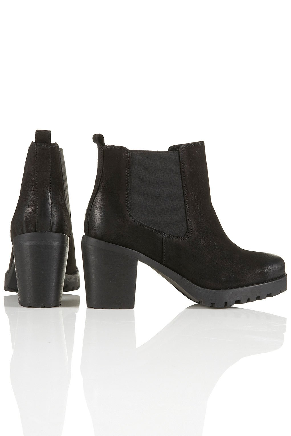 TOPSHOP Alert Chunky Chelsea Boots in Black