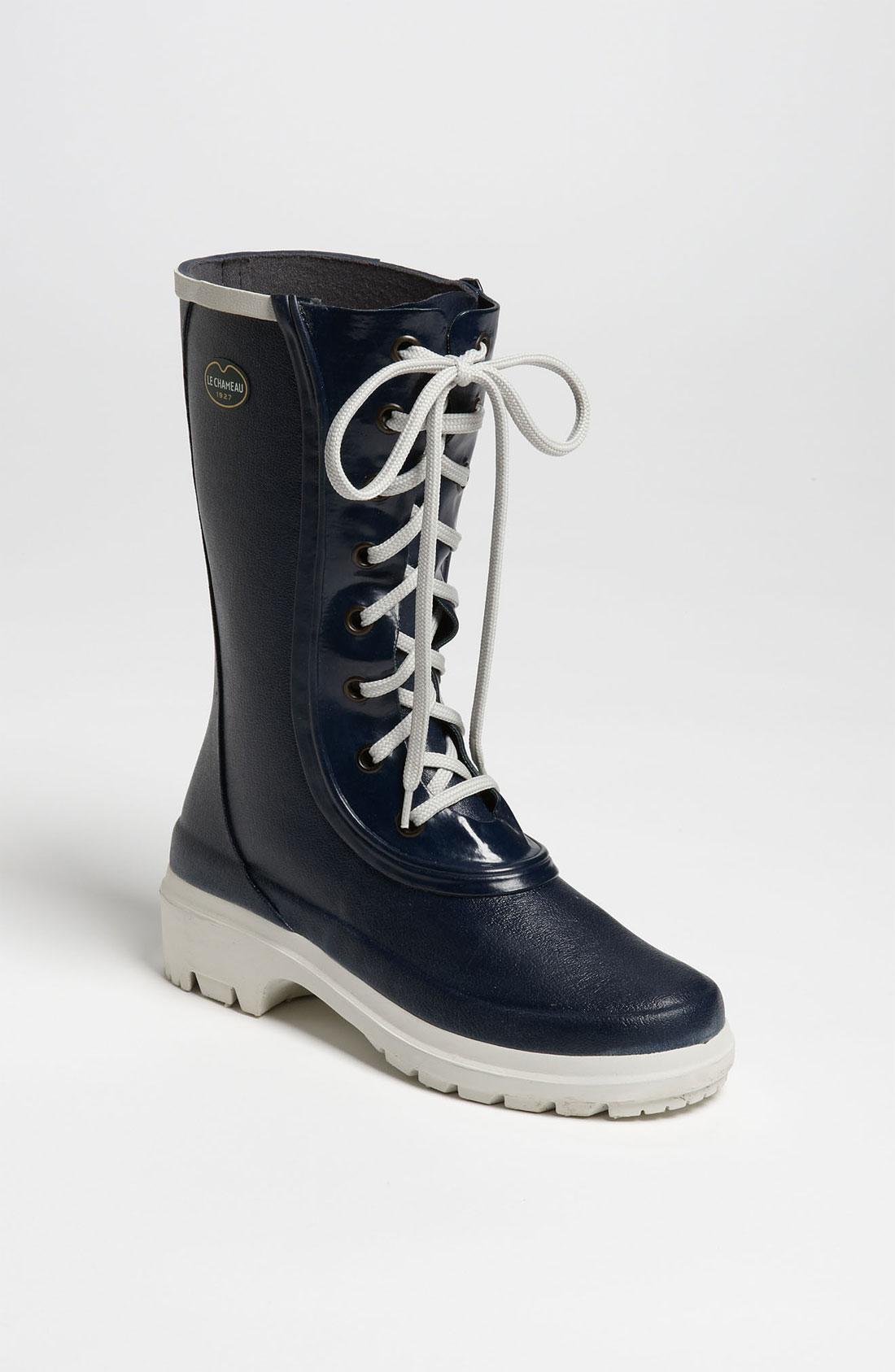 Le Chameau Saiga Rain Boot In Blue Marine Blue Lyst