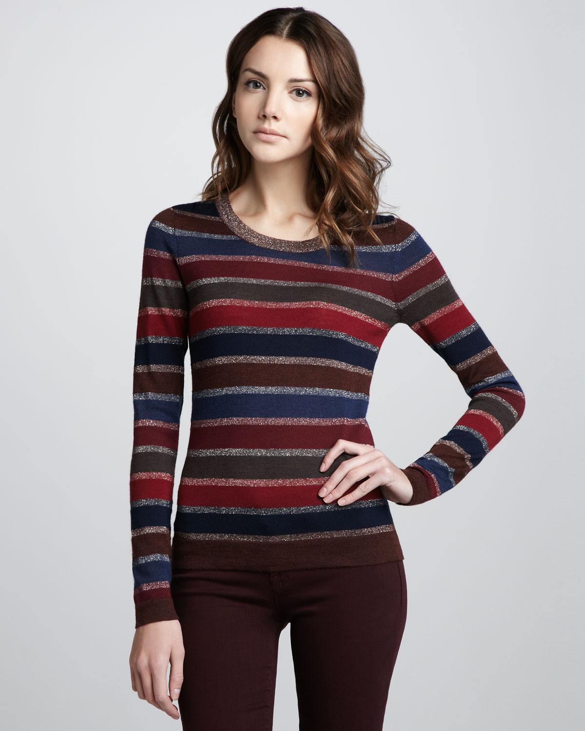 marc by marc jacobs pyo stripe sweater lyst. Black Bedroom Furniture Sets. Home Design Ideas