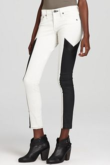 Rag & Bone Leggings Grand Prix Motocross Panelled Leggings in Winter White - Lyst