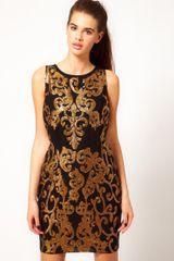 River Island Gold Sequin Shift Dress