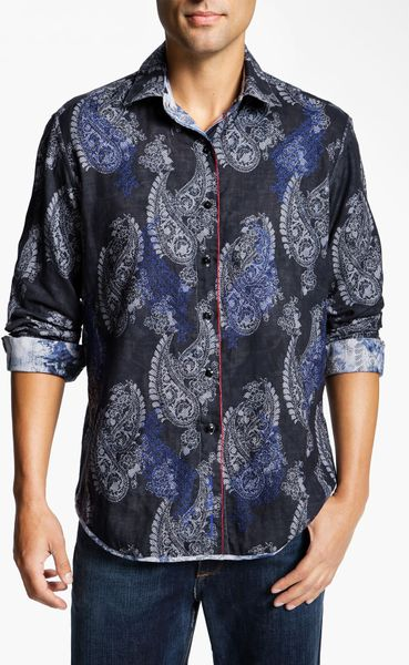 Robert Graham Tahoe Sport Shirt in Blue for Men