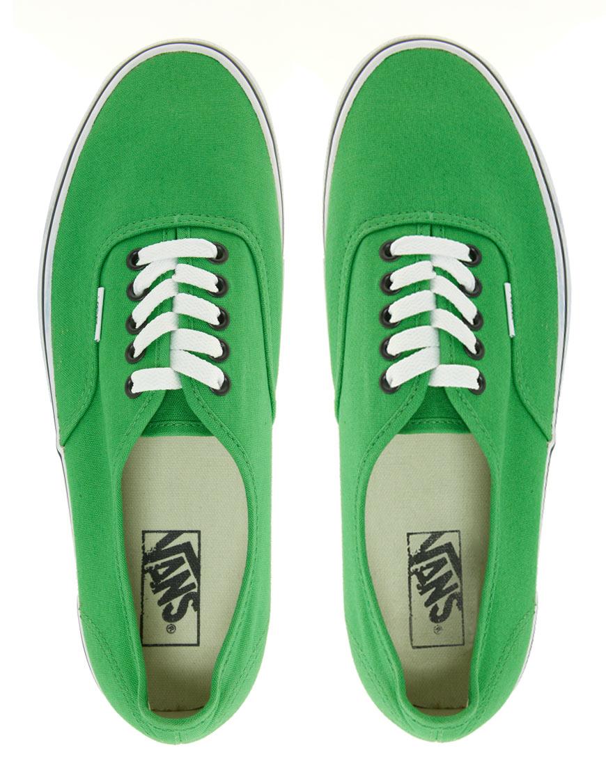 black vans green laces