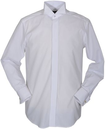 Double Two Plain Wing Collar Dress Shirt - Lyst