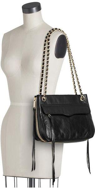 Rebecca Minkoff Swing Shoulder Bag In Black White Lyst