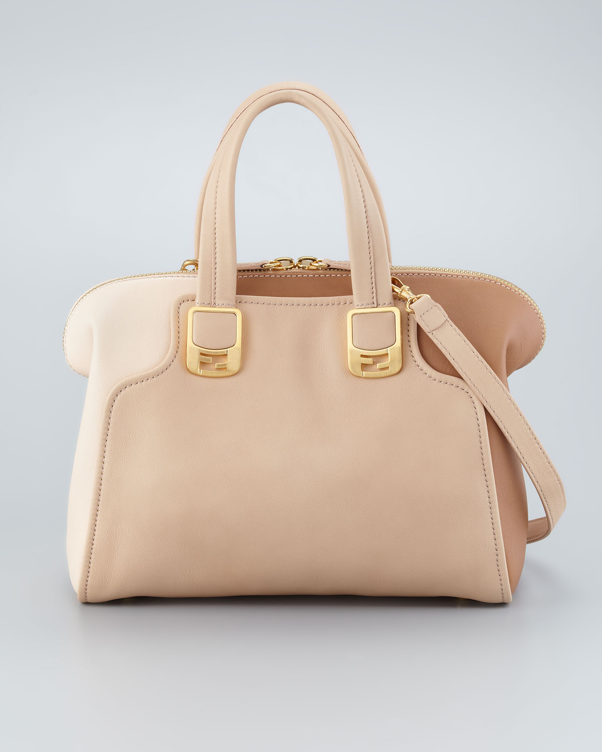 f2aa9ab61978 Lyst - Fendi Chameleon Small Two-Tone Bag in Natural