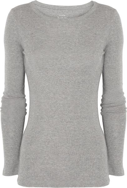J.crew Cottonjersey Top in Gray