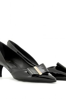 Roger Vivier Decollete Smoking Patent Leather Pumps with Dorset Detail - Lyst