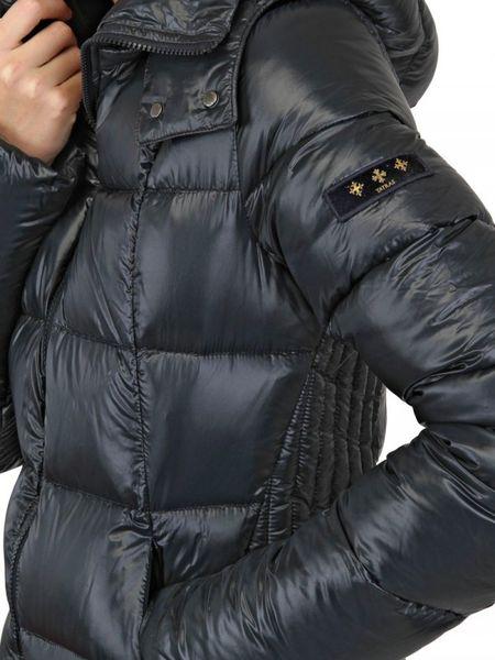 Tatras Sarin Hooded Shiny Nylon Down Jacket In Gray Navy
