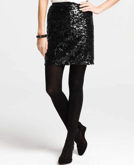 Black Sequin Mini Skirt 20