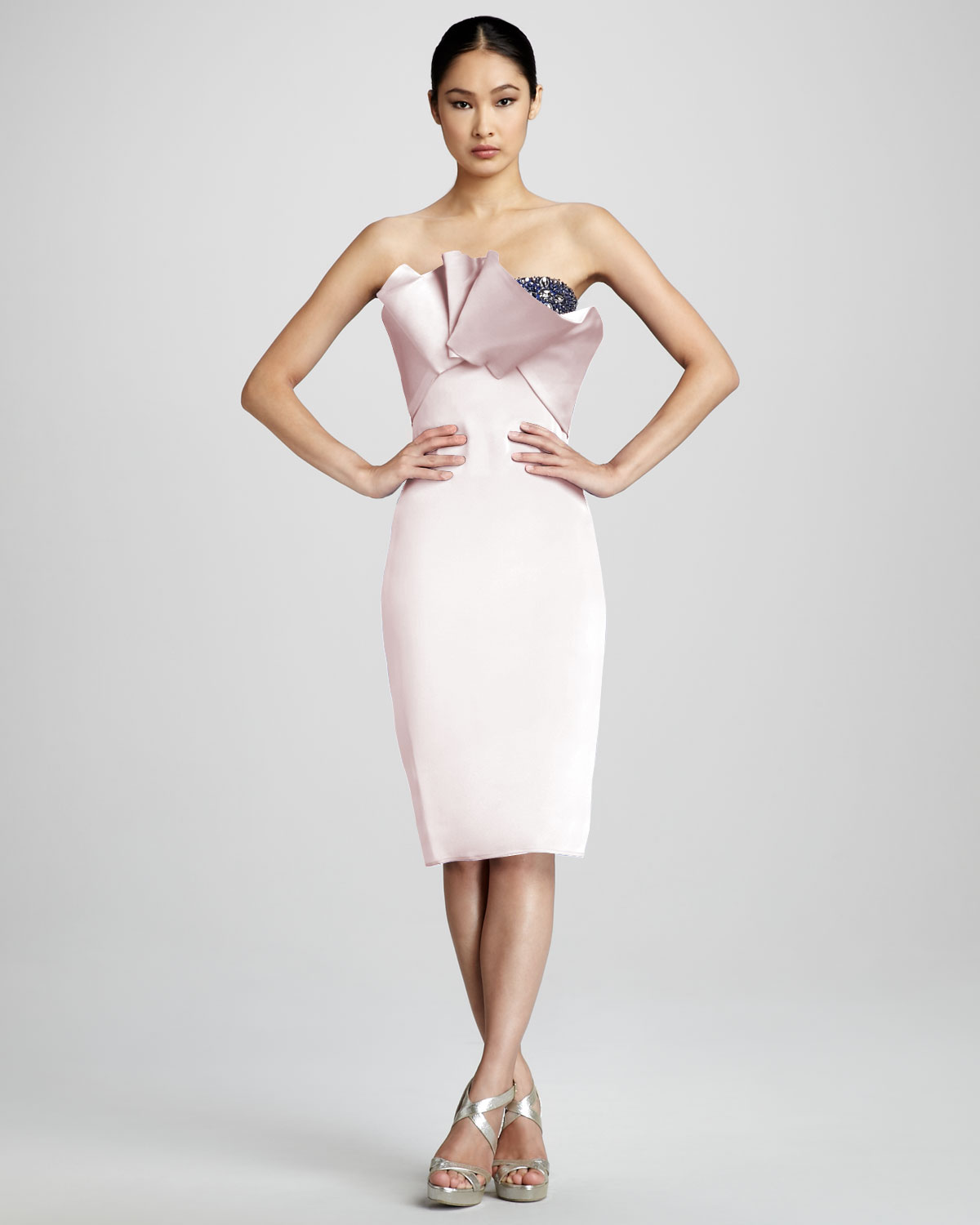 Lyst - Notte By Marchesa Strapless Origami Cocktail Dress in Pink