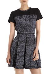 Proenza Schouler Short Sleeve Tweed Dress