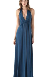 Navy Blue Maxi Dress on Bcbgmaxazria Maxi Deep V Tank Dress In Royal Blue In Blue  Royal Blue
