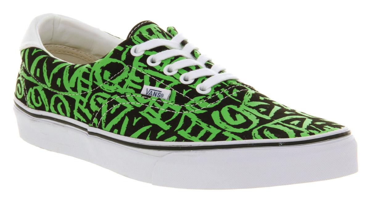 vans green and black
