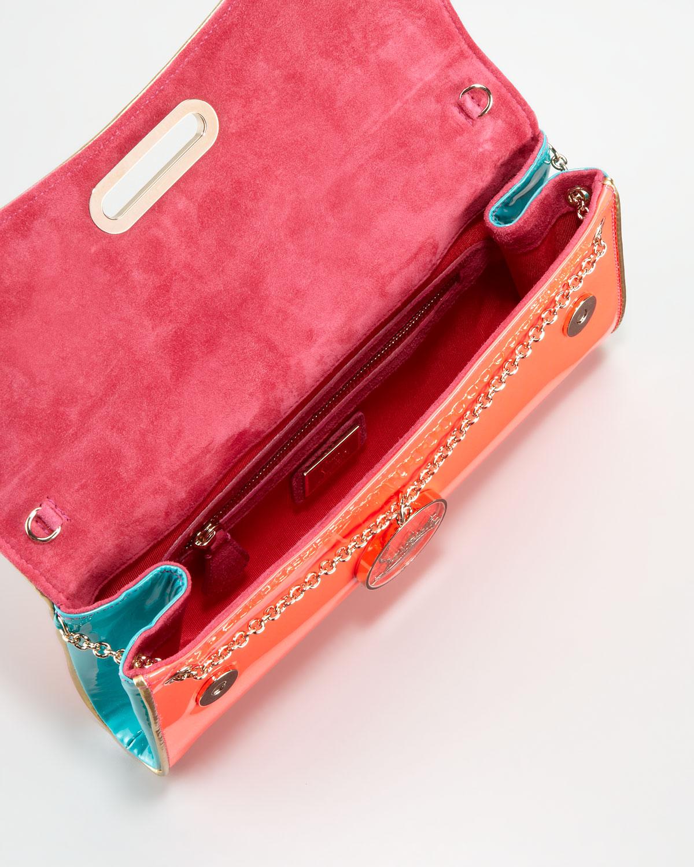 8a505f1c8b1 Christian Louboutin Orange Patent Leather Cork Riviera Clutch Bag