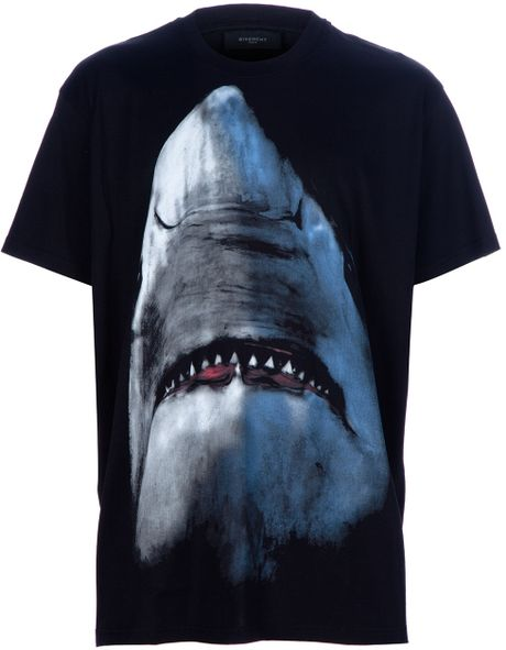 Givenchy Printed T-Shirt in Black for Men