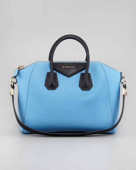 Givenchy Antigona Colorblock Medium Satchel Bag Blueblack in Blue