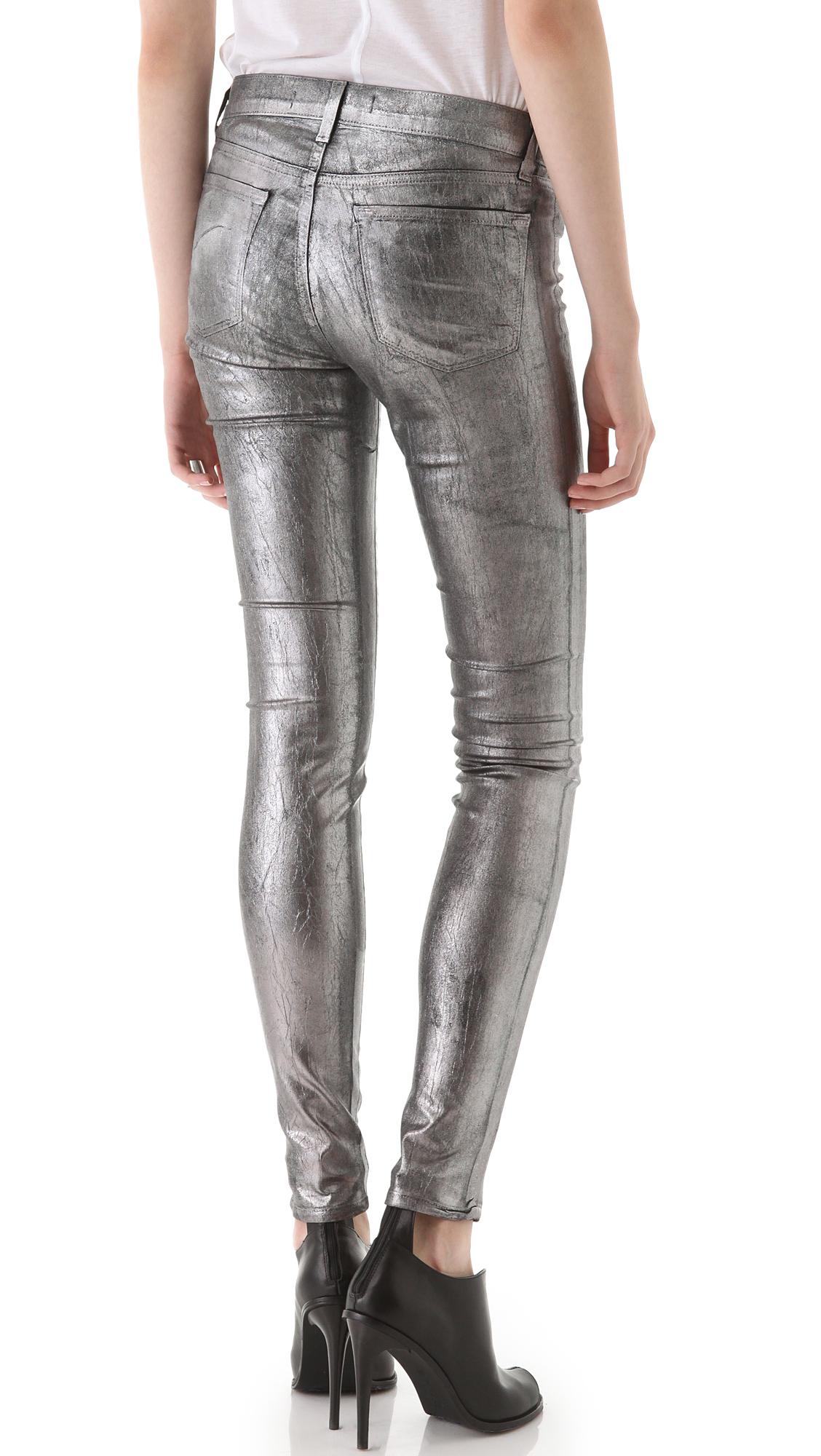 brand 801 Coated Legging Jeans in Metallic | Lyst