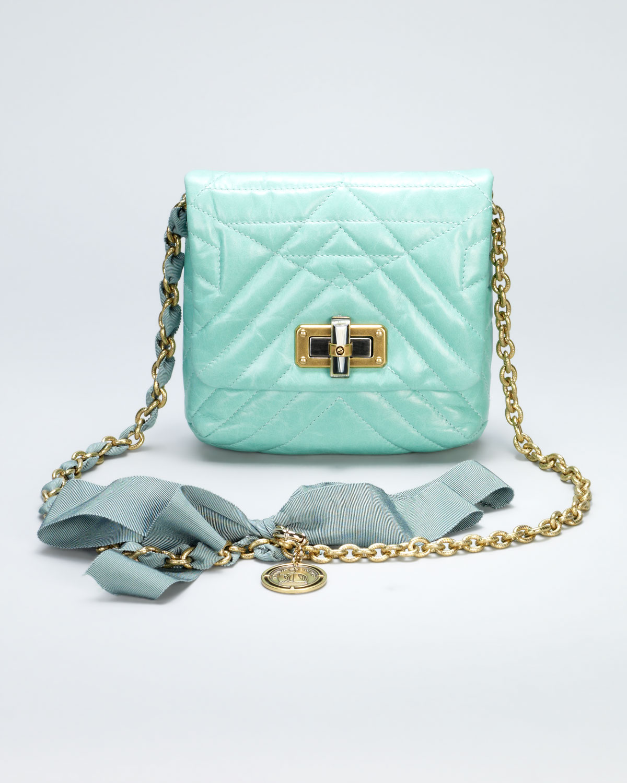 b187be3a8 Lanvin Happy Mini Pop Crossbody Bag Light Green in Blue - Lyst