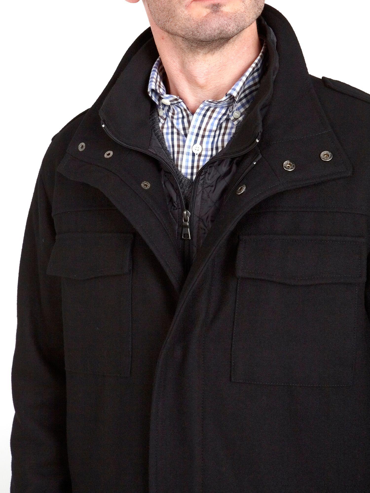 Skopes Matt Military Jacket in Black for Men