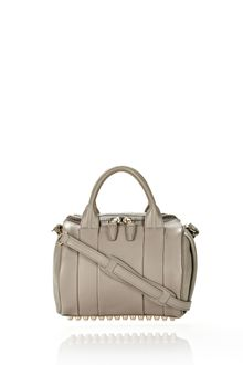 Alexander Wang Rockie in Oyster Pebble Leather with Pale Gold - Lyst