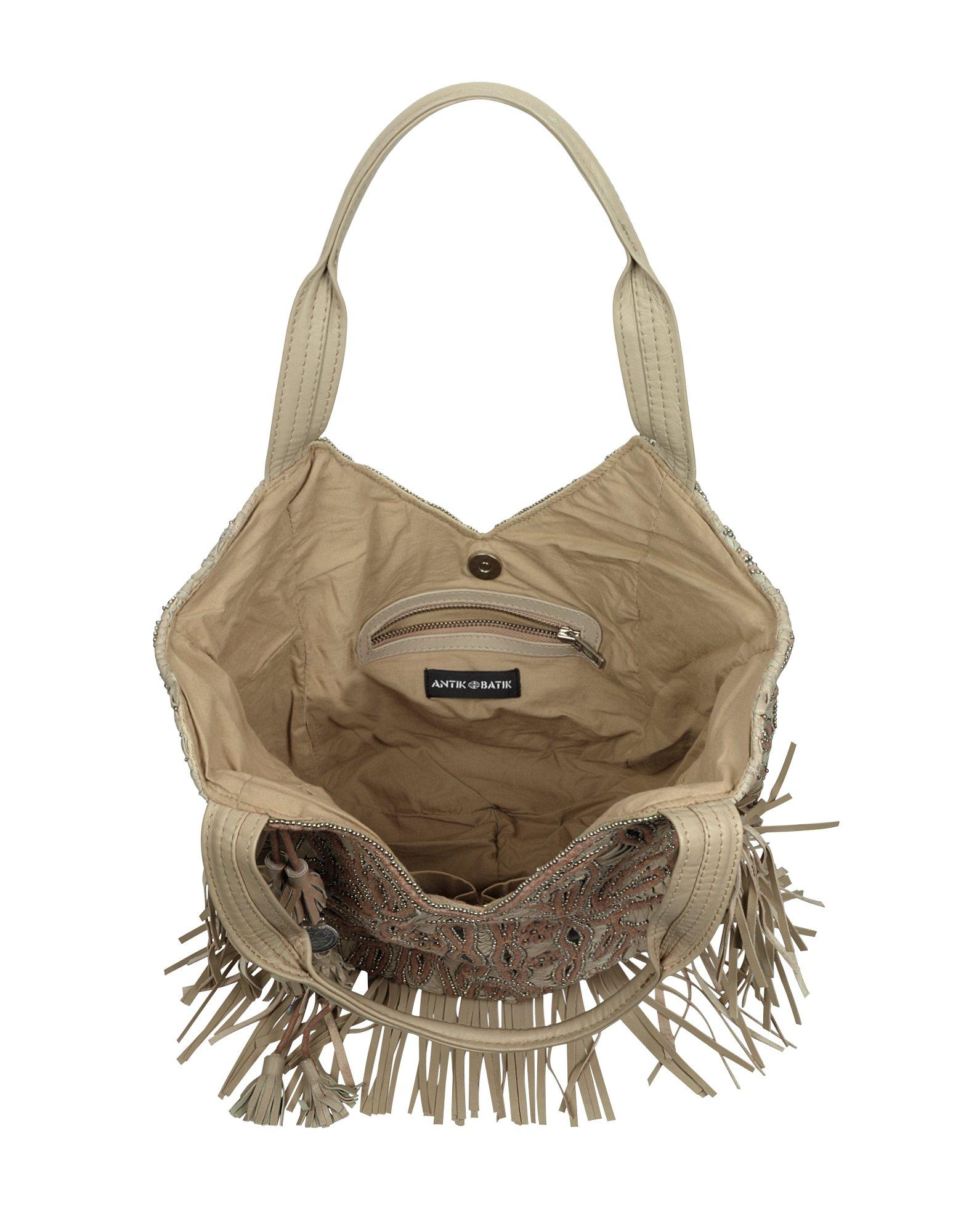 Lyst Antik Batik Galle Fringed Leather Tote In Brown
