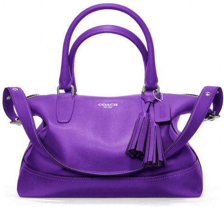 Coach Legacy Leather Molly Satchel in Purple (silver/ultraviolet)
